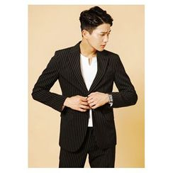 HOTBOOM - Notch-Lapel Stripe Blazer