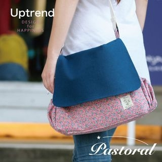 Uptrend - Floral-Print Canvas Crossbody Bag