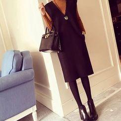 ANGELA - Set: Knit Pullover + Sleeveless Dress