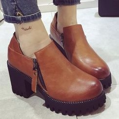 Crystella - Platform Ankle Boots