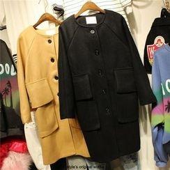 Elfina - Woolen Long Coat