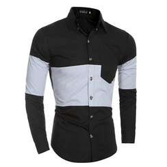 Hansel - Two-Tone Pocketed Shirt