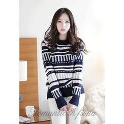 MyFiona - Crew-Neck Patterned Sweater