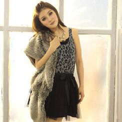 Tokyo Fashion - Set: Patterned Tank Top + Tulle Skirt