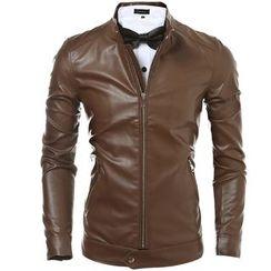 Hansel - Faux Leather Jacket