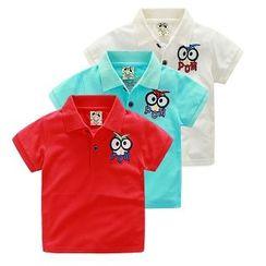 WellKids - Kids Short-Sleeve Printed Applique Polo Shirt