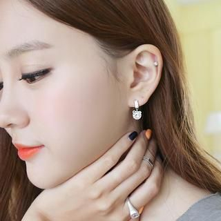 soo n soo - Crystal Ribbon Earrings