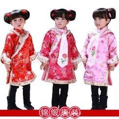 Lotus Seed - Kids Long-Sleeve Party Cheongsam