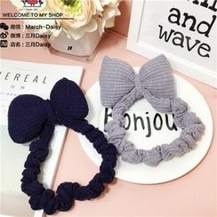 March Daisy - Kids Bow Knit Head Band