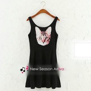 JVL - Cat Print Tank Dress