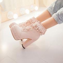 傾城 - 粗跟踝靴