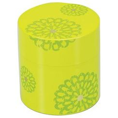 Hakoya - Hakoya Tea Caddy Flower Pattern Green