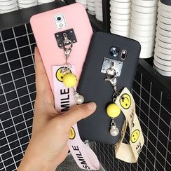 Casefied - Smiley Face Print Strap Phone Case - Samsung Note 3/ 4/ 5/ s7/ s7 edge/ s6/ s6 edge / s8