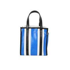 DABAGIRL - Stripe Faux-Leather Mini Shopper Bag