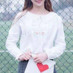 Moricode - 荷叶边衬衫