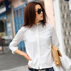 SO Central - Beaded Mandarin Collar Shirt
