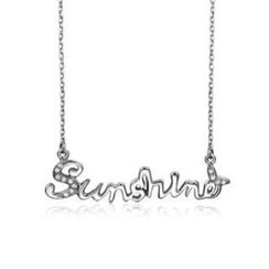 Zundiao - Sterling Silver Lettering Necklace