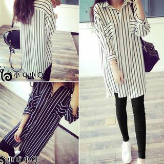 QZ Lady - Striped Long Shirt