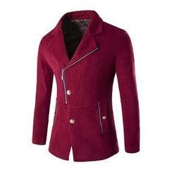 Fireon - Side Zip Woolen Coat