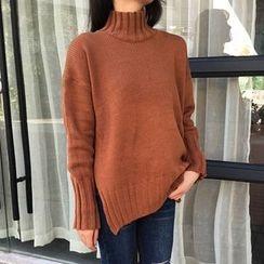 Cloud Nine - Plain High-Neck Sweater