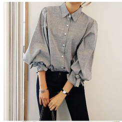 OTTI - 3/4-Sleeve Bow Accent Blouse