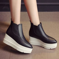 JY Shoes - Platform Wedge Short Boots