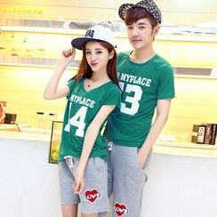 Lovebirds - Couple Short-Sleeve Printed T-Shirt