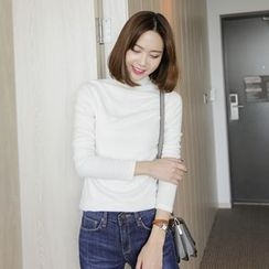 WITH IPUN - Turtle-Neck Slim-Fit Top