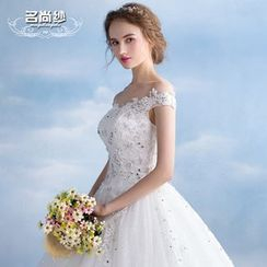 MSSBridal - Lace Embroidered Ball Gown Wedding Dress