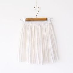 Bonbon - Pleated A-Line Skirt