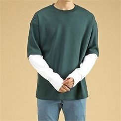 THE COVER - Layered Round-Neck T-Shirt