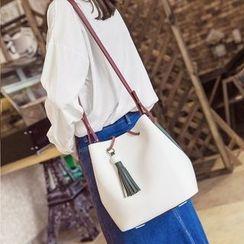 Rabbit Bag - Tassel Color-Block Shoulder Bag