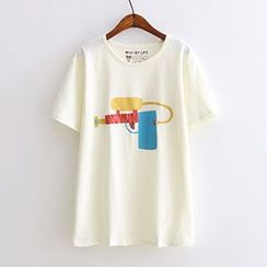 Angel Love - Printed Short-Sleeve T-Shirt