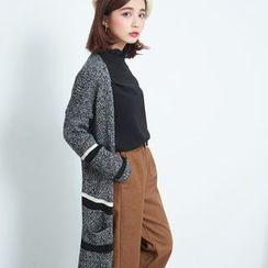 BAIMOMO - Slit-Back Long Knit Cardigan