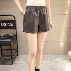 AIGIL - Faux Leather Shorts