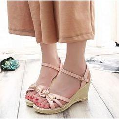 BAYO - 蝴蝶结船跟凉鞋