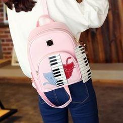 Tasche - Set : Piano Cat Backpack + Clutch