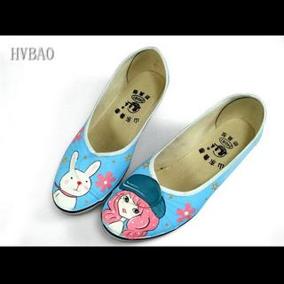 HVBAO - Canvas Wedge Pumps