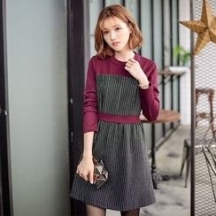 Tokyo Fashion - Long-Sleeve Panel Dress