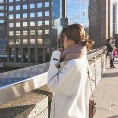 mimi&didi - Wide-Collar Wool Blend Coat