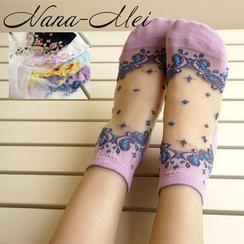 NANA Stockings - 薄纱拼接袜