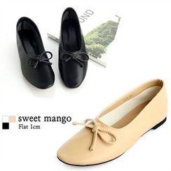 SWEET MANGO - Ribbon-Detail Flats