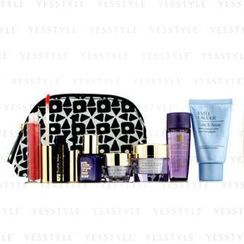 Estee Lauder - Travel Set: Makeup Remover 30ml + Optimizer 30ml + Day Cream 15ml + Serum 7ml + Eye Cream 5ml + Mascara #01 + Lip Gloss #30 + Bag