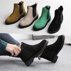 Reneve - Genuine-Suede Chelsea Ankle Boots