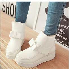 Freesia - Platform Bow Accent Snow Boots
