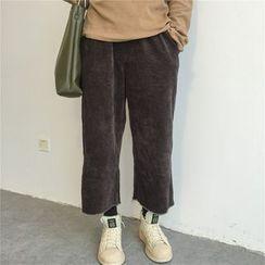 Alfie - Cropped Wide-Leg Corduroy Pants