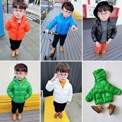 Twin Beans - Kids Plain Hooded Jacket