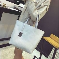 Aishang - 套装: 仿皮手提袋 + 肩包