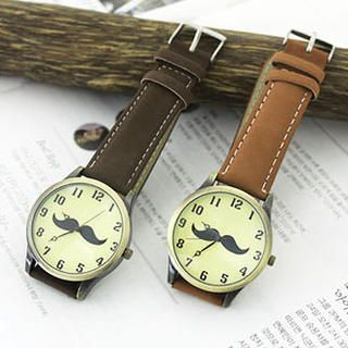 Cuteberry - Mustache Strap Watch