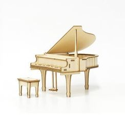Team Green - Plywood Puzzle - Piano
